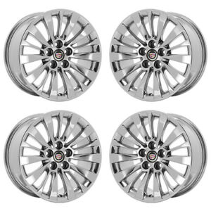 18 Cadillac Cts Pvd Chrome Wheels Rims Factory Oem 2017 2018 2019 Set 4715