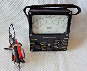 Vintage Triplett 625 n Analog Vom Voltage Ohmmeter Multimeter