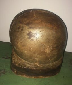 Antique Hat Mold Block Puzzle Form Millinery Wood 5 Pc Industrial Htf