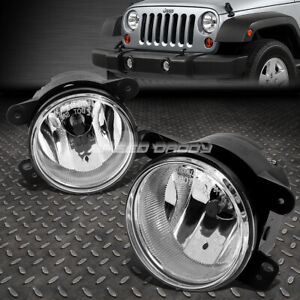 For 07 17 Jeep Wrangler 4wd Jk Clear Lens Oe Bumper Driving Fog Light Lamp