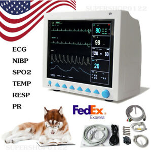 Veterinary Icu Vital Signs Vet Patient Monitor Ecg nibp spo2 pr resp temp fda Ce