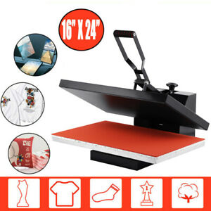 16 x24 Clamshell Heat Press Machine Sublimation Transfer T shirt Hat Cap Plate