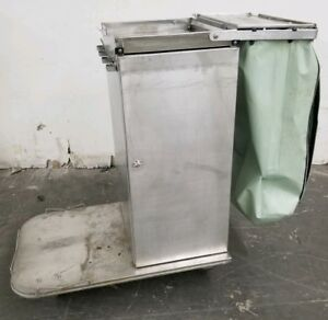 Royce Rolls Stainless Steel Metal Janitorial cleaning maid Cart W Wheels