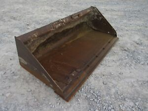 Used Bobcat 68 Smooth General Purpose Skid Steer Bucket Attachment Ship 199