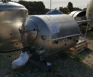Used 500 Gallon Walker Sanitary 316l Stainless Steel Jacketed Mix Tank In Nj