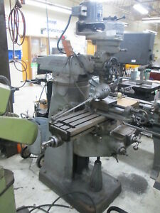Bridgeport 42 table 1hp 208 220 380 440v 3ph J head Milling Machine W bpt Vise