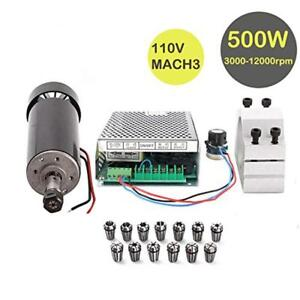 Konmison 1set Mini Cnc Lathe Air Cooled 500w Spindle Motor Cnc 0 5kw With 52mm