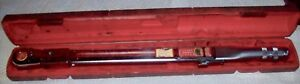 Snap On Tqfr250 1 2 Drive Flex Head Torque Wrench With Case 50 250 Ft Lb