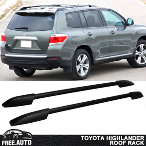 Fits 2008 2013 Toyota Highlander Black Roof Rack Oe Factory Style