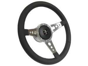 1968 1978 Ford Mustang S9 Leather Steering Wheel Pony Kit 3 spoke Holes