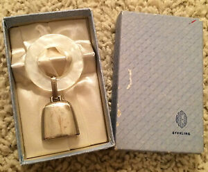 Web Teething Ring White Pearl 522w Sterling Silver Guc With Box