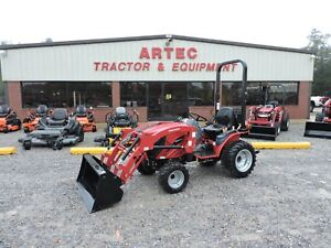 2018 New Mahindra Emax 22 Tractor With Loader 4wd 7 Year Warranty