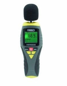 New General Tools Dsm8930 Digital Sound Level Meter 100 Hz To 8 3 Khz Ships Free