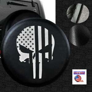 Punisher Spare Tire Cover 29 3 30 31 For Jeep Hummer Ford Land Rover Wheel R16
