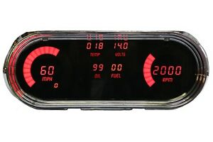 1963 1965 Chevy Nova Digital Dash Panel Gauge Cluster Red Leds