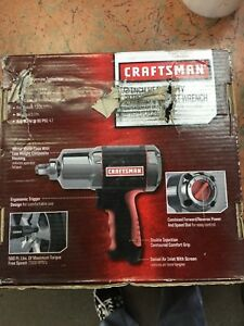 Nib Craftsman Heavy Duty Impact Wrench 1 2 Inch Air Tool Max Torque 19983