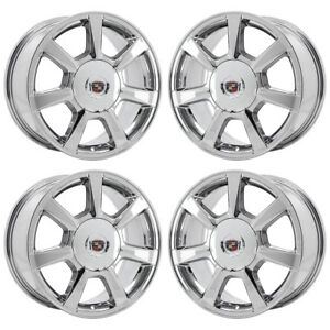 17 Cadillac Cts Sedan Pvd Chrome Wheels Rims Factory Oem Set 4623