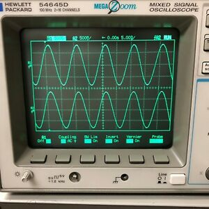 Agilent Hp 54645d Mixed Signal Oscilloscope Mso 100mhz 2 16 Channel 200ms