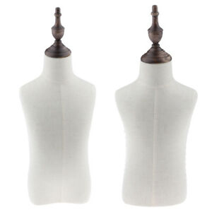 2 Sizes Dressmaking Mannequin Torso Dress Form For Children Clothing Display