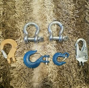 6 Qty Anchor Shackle Pole Strap Clumbing Clip Clevis Slip Hook Mixed Lot