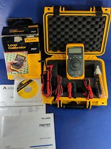 Fluke 707 Loop Calibrator Excellent Condition Box Hard Case Calib 8 27 19
