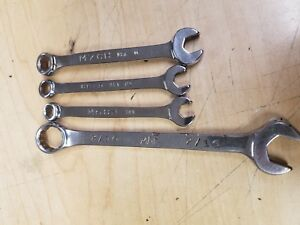 Mac 4 Pc Combination Wrench Set Sae Metric