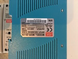 9 new mean Well Mdr 20 24 Ac To Dc Din rail Power Supply 24v 1 Amp