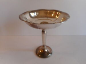 Vintage 6 Sterling Silver Ribbed Footed Bowl Compote Candy Dish
