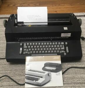 Ibm Black Selectric Ii Typewriter Correcting Works With Manual