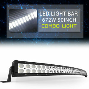 50inch 288w Curved Led Work Light Bar Combo Offroad Foglight Truck For Jeep 4wd