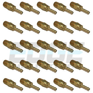 25 Pack 3 16 Swivel Brass Hose Barb X 1 4 Male Npt Mnpt Water Air Fuel Wog