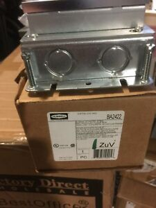 New Floor Box steel And Aluminum 2 gang Hubbell Wiring Device kellems Ba2422
