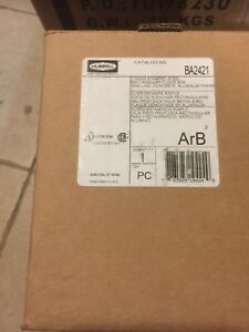 New Floor Box steel And Aluminum 1 gang Hubbell Wiring Device kellems Ba2421