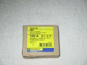 Square D Qo2100 Circuit Breaker 100 Amp 2 Pole 120 240v Plug in