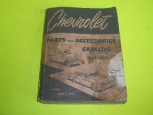Vintage 1929 1955 Chevrolet Parts And Accessories Catalog Book Pickup Truck