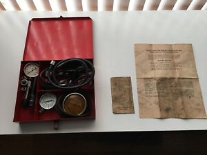 Vintage Snap On Tune Up Set In Metal Box With Original Paperwork Neat Piece