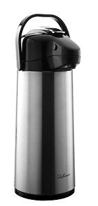 Thermal Airpot Coffee Carafe Beverage Dispenser Stainless Steel Vacuum Insulated