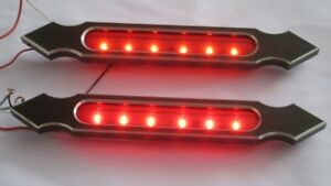 Anodized Bagger Harley Touring Road King Softail Led Taillight Saddlebags Fender