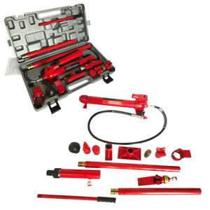 10 Ton Hydraulic Jack Pump Lift Porta Power Ram Repair Tool Kit Set