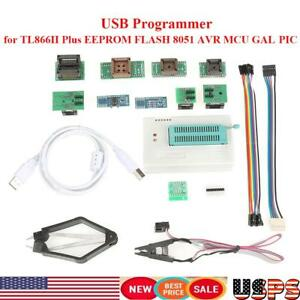 Usb Universal Programmer For Tl866ii Plus Eeprom Flash 8051 Avr Mcu Gal Pic Us