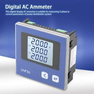 Lnf36 Lnf36 c Intelligent Power Meter Three phase Ac Current Measurement Ammeter