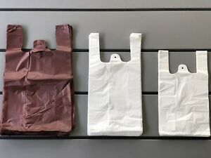 Retail Supermarket Strong Takeaway Plastic Shopping Vest Carrier Bags