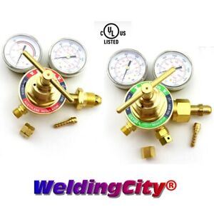 Weldingcity 2 pk Light Duty Flowmeter Regulator Victor Style Hrf1425 ul listed