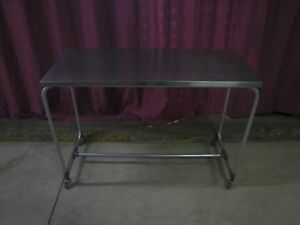 Stainless Steel Back Table Instrument Table