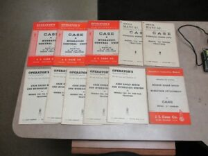 Lot Of 11 Vtg Case Header Eagle Hitch Hydraulic Power control Operator Manual