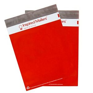 Poly Mailers 14 5x19 Red With Recycle Symbol Pack Of 100