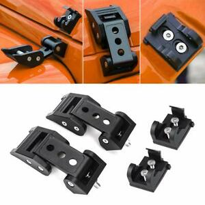 Hood Lock Bonnet Locking Catch Latch Buckle Kit For 2007 2017 Jeep Wrangler Jk