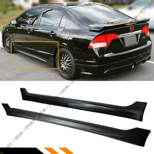 For 2006 11 Honda Civic 4 Door Sedan Lx Ex Si Mug Rr Style Side Skirt Extension