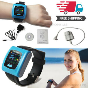 Usa Oled Pulse Oximeter Wrist Watch pulse Rate Spo2 24 Hours Record Software Fda