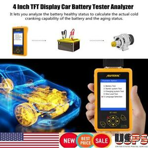 Auto Car Battery Bad Cell Load Test Tool Digital Analyzer Tester Car Tft Display
